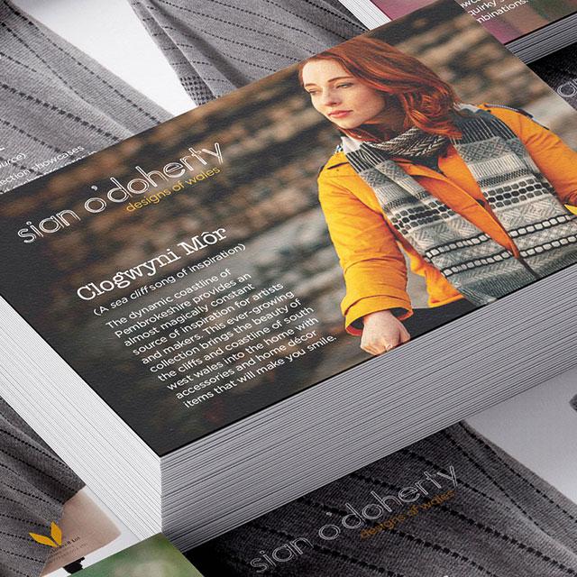 Branded card designs Sian O'Doherty by Hu Studio